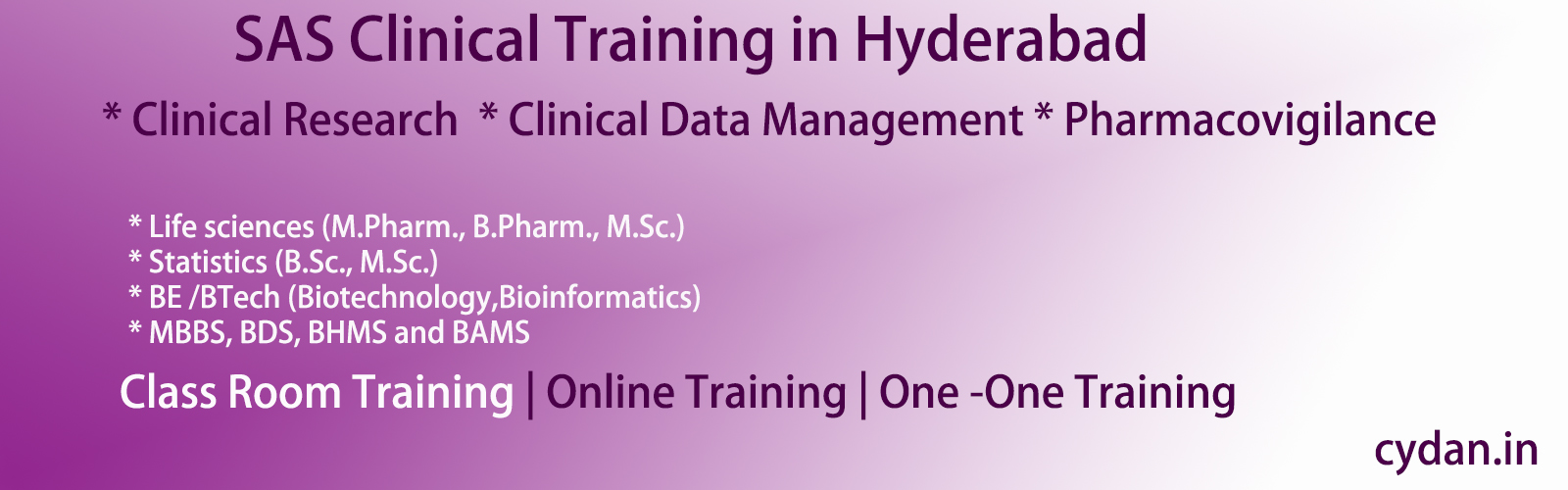 clinical sas training in hyderabad
